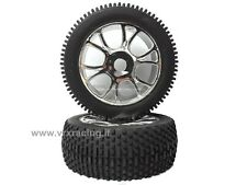 COPPIA RUOTE CROMATE X BUGGY 1/8 OFF ROAD TYRE COMPLETE SET 2 PCS 85927 VRX