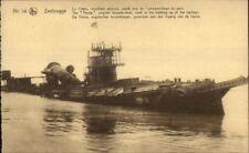 Zeebrugge Belgium WWI Detroyed Ship THETIS c1915 Postcard