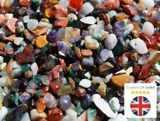 Mixed Natural Gemstone Tumbled Chips  - 50g - Approx 180 Beads - UK SELLER