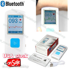 Portable ECG EKG Machine Heart Beat Monitor USB Bluetooth LCD USA stock
