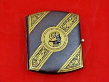 ANTIQUE CIGARETTE CASE TOLEDO SPAIN IRON GOLD DAMASCENED damascene MOORISH
