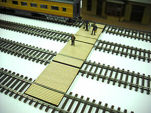HO Scale ** Laser Cut ** Custom Timber Baggage & Passenger  Crossing