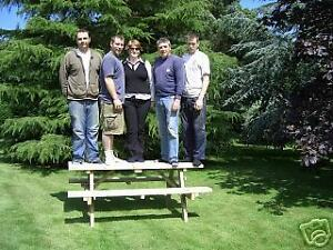 6FT PICNIC BENCH EXTRA HEAVY DUTY REDWOOD GARDEN TABLE