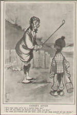 Golf Caddy Cartoon Humor Matted From Harper's Weekly Antique Art Print Scotland