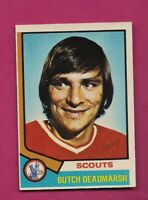 1974-75 OPC # 73 SCOUTS BUTCH DEADMARSH  ROOKIE EX-MT CARD (INV# A5902)