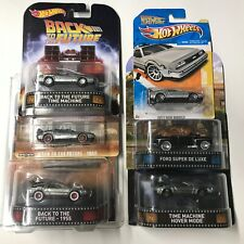 Lot of 6! Hot Wheels Back To The Future Bttf DeLorean Collectors Film Cars New
