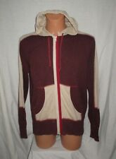 LEVI'S RED TAB full zip knitted cotton hooded embro cardigan top sz M great co