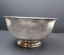 "VTG Fisher Paul Revere 1768 Reproduction Silver 9"" Footed Bowl"
