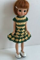 "Clothes for Tiny Betsy McCall 8"" Tonner Doll Handmade USA Dress Lot TB-12 Green"