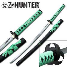 "41"" ZOMBIE HUNTER GREEN KATANA SAMURAI SWORD Apocalypse Walking Dead-zb029"