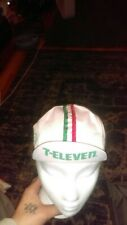 Vintage 7-Eleven Cycling Italian Hat Bike Racing Cap Made in Italy Flag 80s RARE