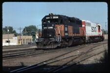 35mm slide SOO Soo Line Railroad EMD GP40 2034 Bensenville IL USA 1988 original