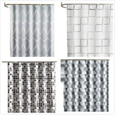 Waterproof Polyester Fabric Shower Curtain Bathroom Home Decoration 2M Long