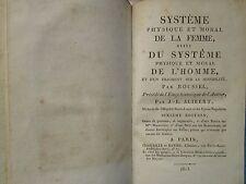 ROUSSEL / ALIBERT : SYSTEME PHYSIQUE DE LA FEMME ET DE L'HOMME, 1813. Gravures.