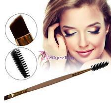 1pc Pro Double End Angled Head Eyebrow Brush Eye Liner Brow Eyelash Makeup Tool