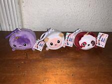 Lot of 3 Moosh Moosh Mini Clipz Bonbon Patty Cookie NWT