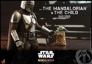 Hot Toys 1:6 TMS015 Star Wars The Mandalorian & The Child Deluxe Version Set Toy