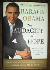 2006 1st Ed BARACK OBAMA THE AUDACITY OF HOPE SIGNED & INSCRIBED
