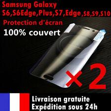 Samsung S8/Plus/S9/S6/S7/edge/S10 Note 8 9 Film protection écran intégral 3D LOT