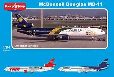 1/144 MD-11 McDonnel Douglas- NEW Mikromir - America's livery's- only 200 ex!
