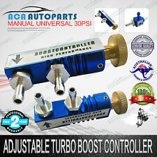 Manual Blue Adjustable Turbo Boost Controller +Kit Fits Holden Mitsubishi Toyota