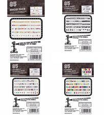 Coloridos paquetes de emojis letras y extra para A4 Cinema Cine Lightbox signo