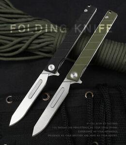 440C Blade G10 Pocket Utility Knife Scalpel EDC Outdoor Camping Folding Knife