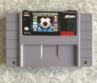 SNES Champions World Class Soccer Super Nintendo Authentic Cartridge TESTED