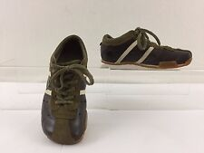 """DIESEL """"WISH"""" KIDS BROWN,MOCHA WITH WHITE STRIPE LEATHER OXFORD SIZE YOUTH 13.5"""