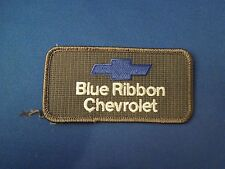 Blue Ribbon Chevrolet Uniform Advertising Cars Embroidered Iron On Patch