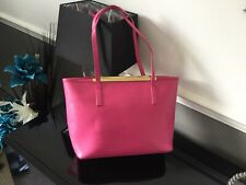 Lovely Pink Ted Baker Leather Zip Closure Bag Great Condition Outside Used Insid