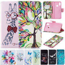 For Samsung Galaxy A20e A30s A41 Patterned Leather Wallet Flip Phone Case Cover