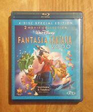 Fantasia + Fantasia 2000 (1940/1999) Very Good 2-Disc Blu-ray Walt Disney