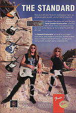 FENDER STANDARD STRATOCASTERS GUITAR ADVERT - 1996 Advertisement IRON MAIDEN