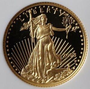 2008 W Proof $5 1/10oz Gold American Eagle NGC PF69 Ultra Cameo