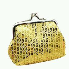Womens Wallet Money Holder Coin Purse Cute Sequin Pattern Clutch Handbag