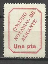 7200-SELLO FISCAL CLASICO COLEGIO NOTARIAL DE ALICANTE.REVENUE FISCAUX 1 PTA