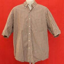 """Lyle & Scott Men's Reds to Brown & White Plaid Casual Shirt XXL 26"""" Pit2Pit"""