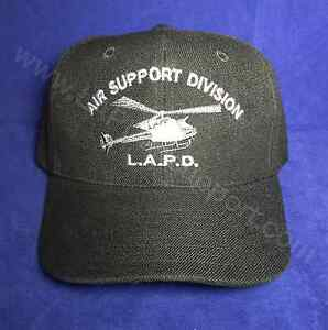 LAPD Air Support Hat Helicopter Logo Embroidered Adjustable Decky Brand LAPD