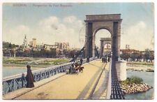 avignon , perspective du pont suspendu  ---