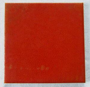 Franklin Pottery Tile Red Crystalline Glaze Vintage Art Deco Era Lansdale PA