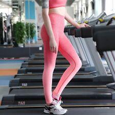 Women High Waist Yoga Pants Fitness Leggings Running Gym Ombre Sports Trousers P