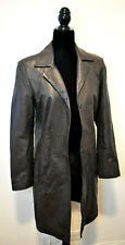 Vintage Vakko Brown Leather Coat Size M