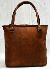 Vintage leather real leather ladies handbag tote for girls handmade boho bag
