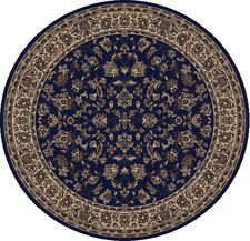 5 Round Radici Blue Persian Floral Border 953 Area Rug - Approx 5' 3""