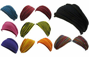 Hippie Boho Multicolored Stretchable Cotton Handmade Double Headband Bandana