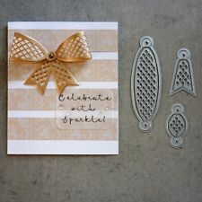 shopaperartz LARGE LATTICE BOW 6 PCE CUTTING DIES BIRTHDAY CELEBRATION 4 SIZZIX