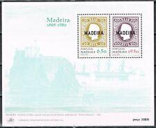 Madeira 1980 blok 1 112 jaar 1ste postzegel Madeira cat waarde € 3,50