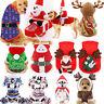 Santa Christmas Pet Dog Shirt Coat Hoodie Puppy Cat Costume Clothes Xmas
