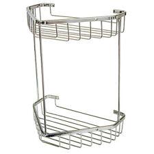 Two Tier Corner Soap Shower Basket Bathroom Chrome Wire Work Accessories H407